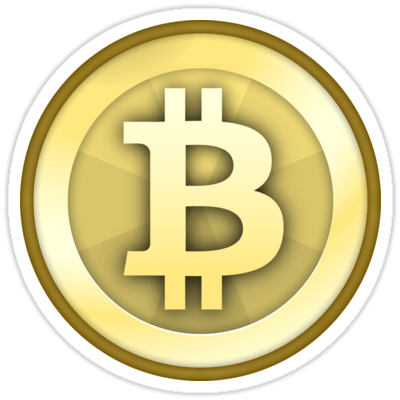 Bitcoin Gold Coin Sticker
