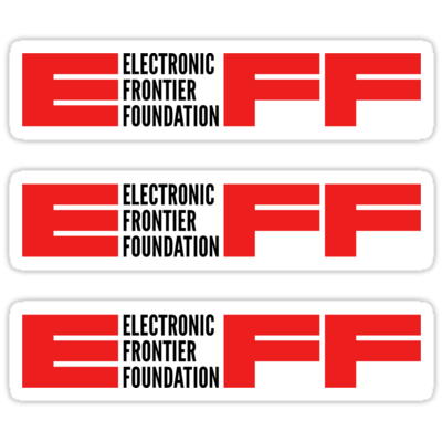 EFF ×3 Sticker