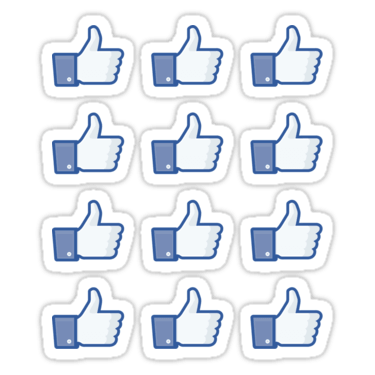 Facebook Like Thumbs Up ×12 Sticker