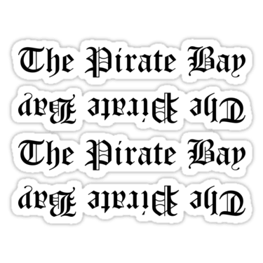The Pirate Bay ×4 Sticker