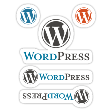 WordPress ×5 Sticker