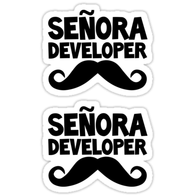 Señora Developer ×2 Sticker
