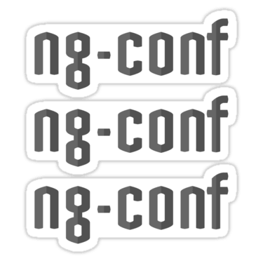 ng-conf ×3 Sticker