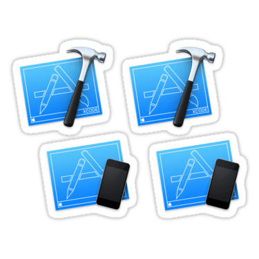 Xcode iOS Developer ×4 Sticker