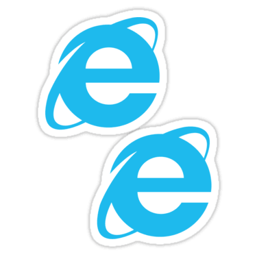 Internet Explorer ×2 Sticker
