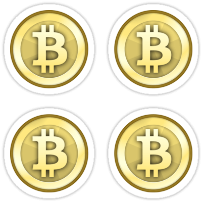 Bitcoin Gold Coin ×4 Sticker