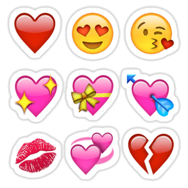 Smilies Emoji ×9 (Love Pack) Sticker