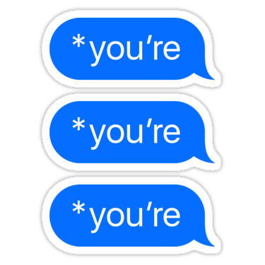 *you're ×3 Sticker