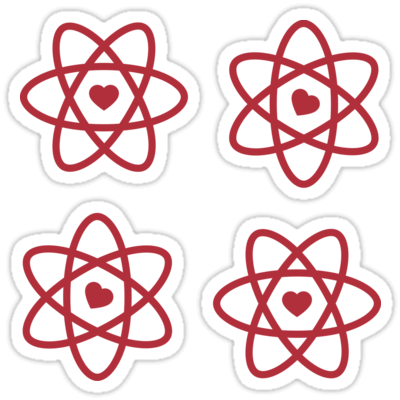 Love React ×4 Sticker