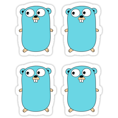 Gopher ×4 Sticker