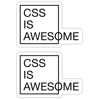 CSS Is Awesome ×2 Sticker
