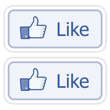 Facebook Like Button ×2 Sticker