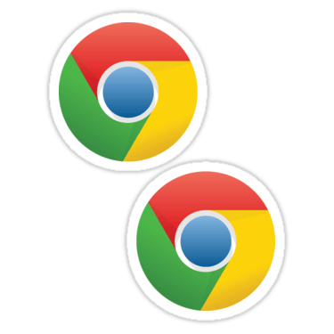 Chrome ×2 Sticker
