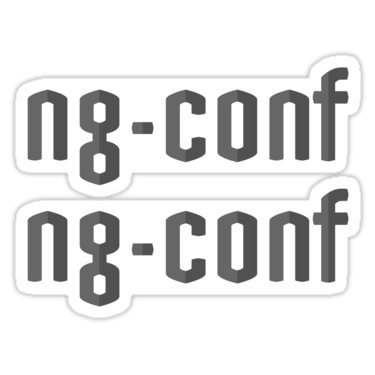 ng-conf ×2 Sticker
