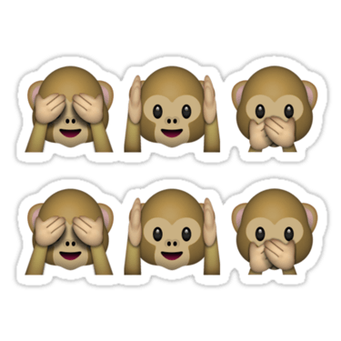 See no evil hear no evil speak no evil emoji x2 sticker