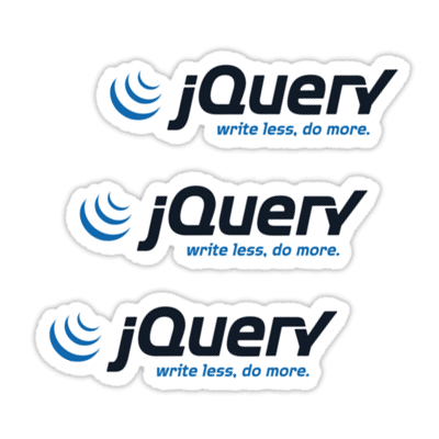 jQuery ×3 Sticker