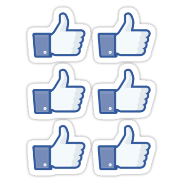 Facebook Like Thumbs Up ×6 Sticker