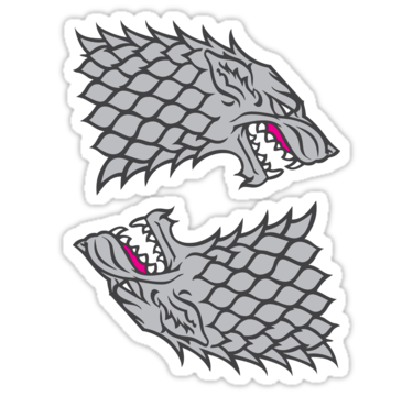 House Stark Sigil ×2 Sticker