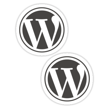 WordPress ×2 Sticker