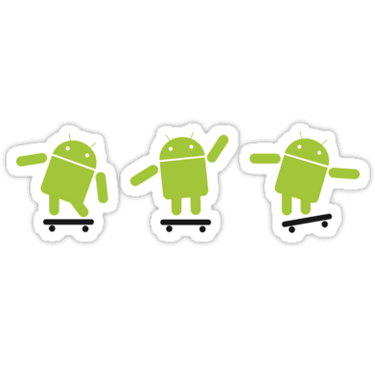 Android Skating Sticker