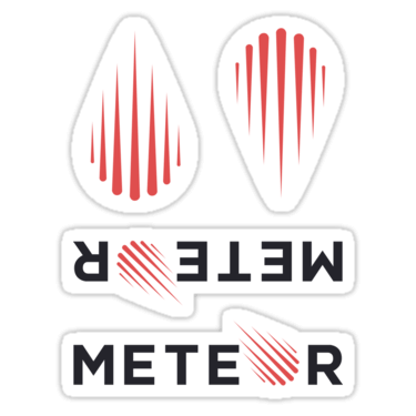 Meteor ×4 Sticker