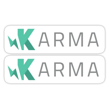 Karma Test Runner ×2 Sticker